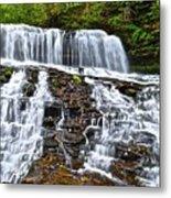 Wide Flowing Falls Metal Print