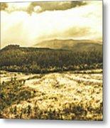 Wide Open Tasmania Countryside Metal Print