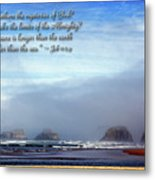 Wider Than The Sea Metal Print