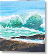 Widescreen Wave Metal Print