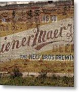 Wiener Maerzen Beer Sign Victor Co Img_8703 Metal Print