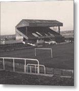 Wigan Athletic - Springfield Park - Main Stand 1 - Bw - 1969 Metal Print