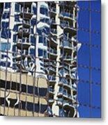 Wiggly Balconies Metal Print