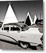 Wigwam Motel Classic Car #2 Metal Print