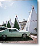 Wigwam Motel Classic Car #3 Metal Print