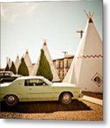 Wigwam Motel Classic Car #4 Metal Print