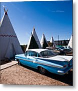 Wigwam Motel Classic Car #6 Metal Print