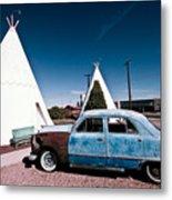 Wigwam Motel Classic Car #7 Metal Print