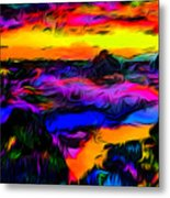 Wild And Crazy Shoreline Dusk Metal Print