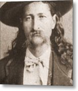 Wild Bill Hickok Was A Celebrated Metal Print