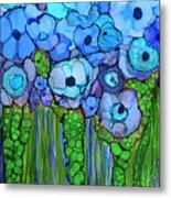 Wild Blue Poppies Metal Print