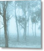 Wild Blue Woodland Metal Print