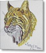 Wild Bobcat Metal Print