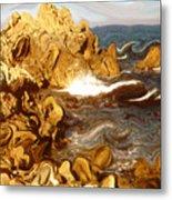 Wild California Coast - Modern Art Metal Print