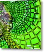 Wild Curves Abstract Metal Print