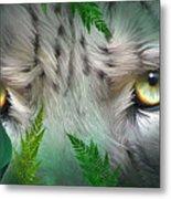 Wild Eyes - Snow Leopard Metal Print