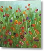 Wild Flowers Abstract Metal Print