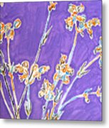 Wild Flowers On Lilac Metal Print