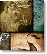 Wild Game Primitive Patchwork Metal Print