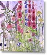 Wild Garden Flowers Metal Print
