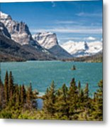 Wild Goose Island And The Peaks Of St Mary's Metal Print