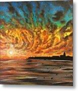 Wild Hearted Sun - Santa Cruz Metal Print