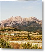 Wild Mountain Range Metal Print