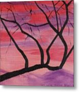 Wild Sky And Tree Metal Print