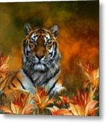 Wild Tigers Metal Print