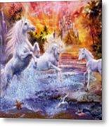 Wild Unicorns Metal Print