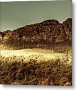 Wild West Mountain Panorama Metal Print