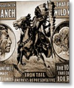 Wild West Poster Metal Print