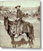 Wild West. The Cow Boy. Sturgis, Dakota Metal Print by Everett