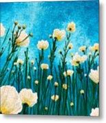 Poppies In The Blue Sky Metal Print