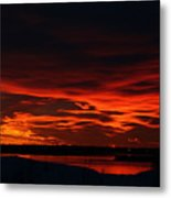 Wild Winter Sunset Metal Print