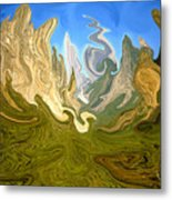 Wild Yosemite - Abstract Modern Art Metal Print