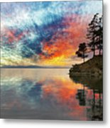 Wildcat Cove In Washington State At Sunset Metal Print