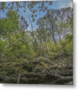 Wildcat Den Cliffs And Trees In Fall Metal Print
