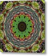 Wilder Flower Mandala Metal Print