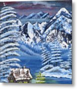 Wilderness Christmas Metal Print