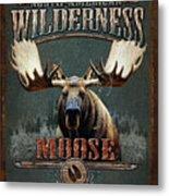 Wilderness Moose Metal Print