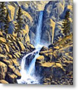 Wilderness Waterfall Metal Print