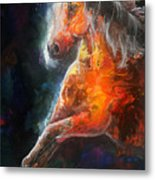 Wildfire Fire Horse Metal Print