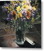 Wildflower Bouquet II Metal Print