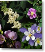 Wildflower Collage Metal Print