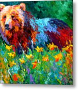 Wildflower Grizz II Metal Print