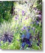 Wildflowers And Cactuses Metal Print