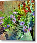Wildflowers And Rocks Metal Print