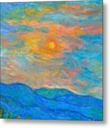 Wildflowers By A Blue Ridge Sunset Metal Print