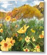 Wildflowers In The Desert Metal Print
